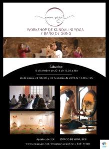 Workshop de Kundalini Yoga y baño de Gong @ Col·legi Pare Damià